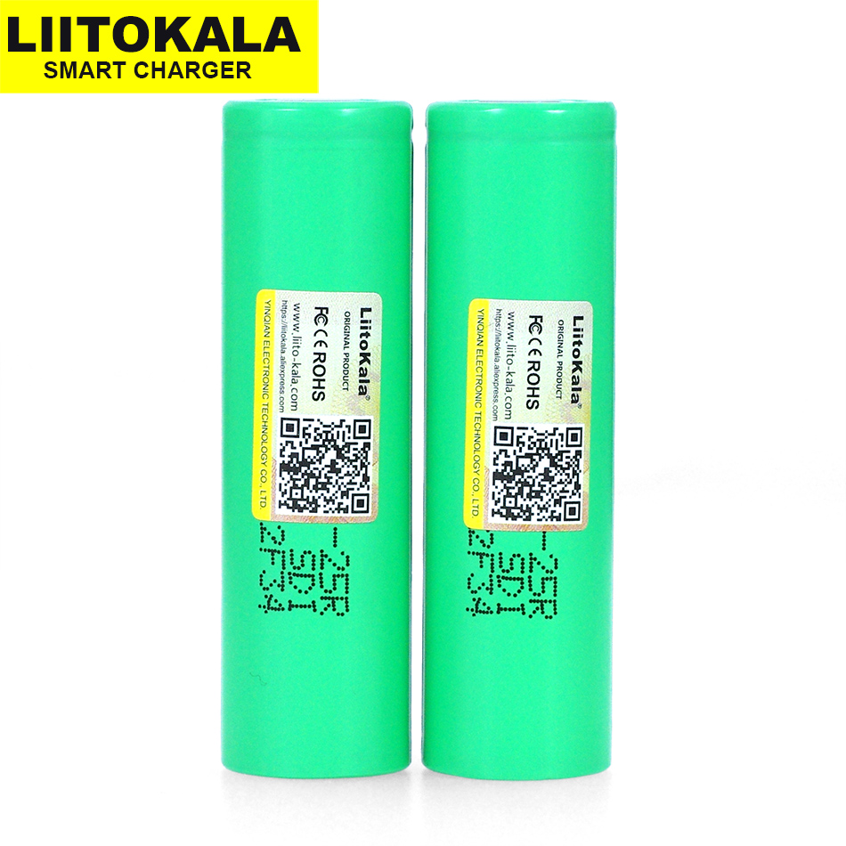 1pcs. New <font><b>liitokala</b></font> <font><b>25R</b></font> <font><b>18650</b></font> Li-ion battery 3.7 V 2500 mAh battery can hold electronic special 20A discharge image