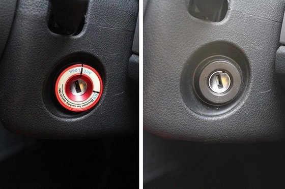 Coche luminoso anillo de botón de arranque llave agujero Cap para VW Golf MK7 VII GTI