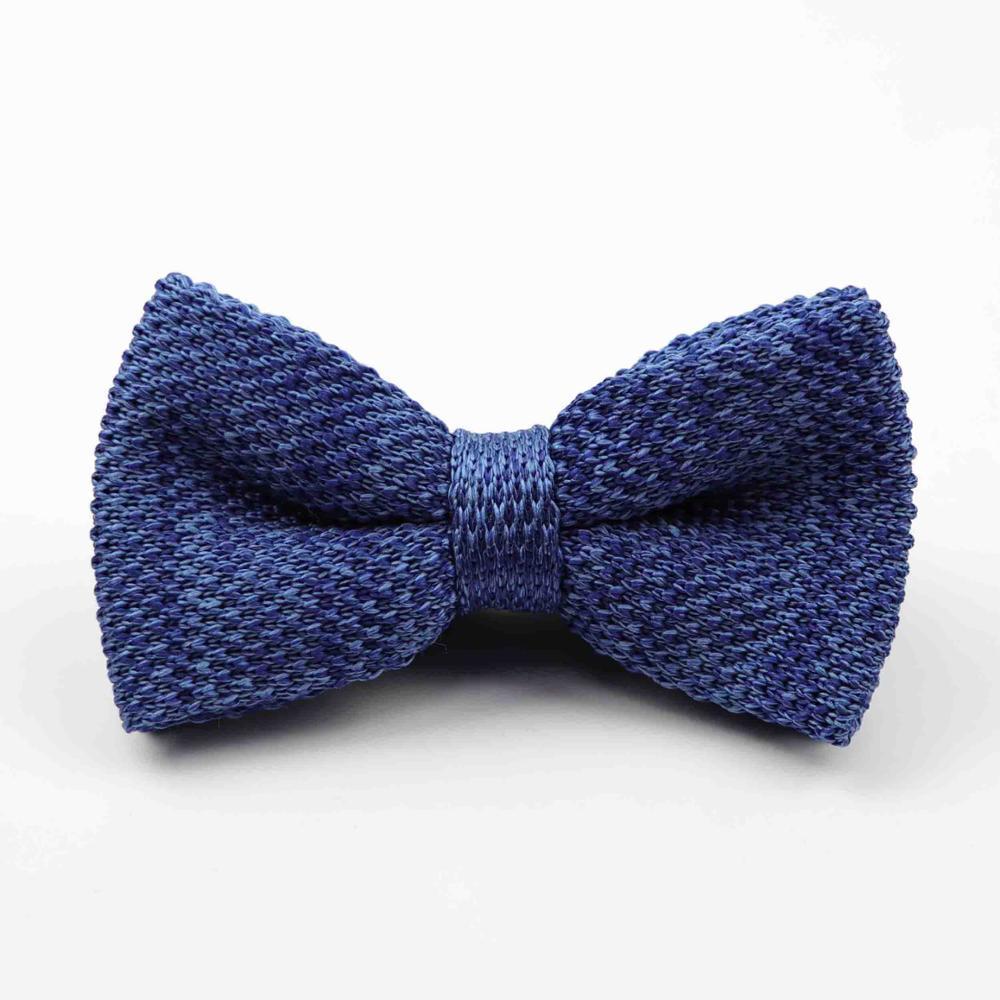 Мужские галстуки для шеи, смокинг, вязаная бабочка, Одноцветный галстук-бабочка, толстый двухслойный предварительно завязанный Регулируемый вязаный Повседневный галстук - Цвет: 40