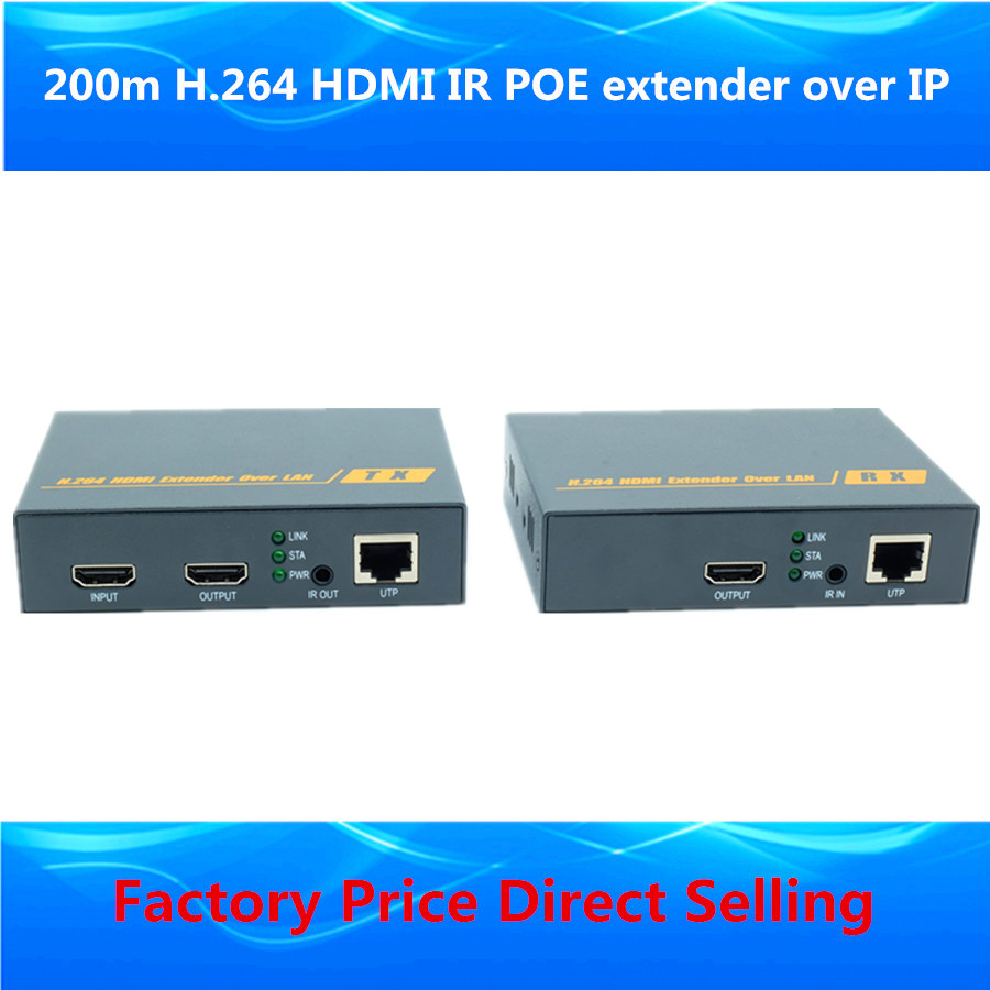 1 TX & 4 RX 660ft HDBitT Super HDMI LAN IP Extender Transmitter With Loop out & IR Over CAT5/5e/6 RJ45 Cable Like HDMI Splitter