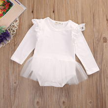 Cute Newborn Baby Girl Lace Romper 0-24M