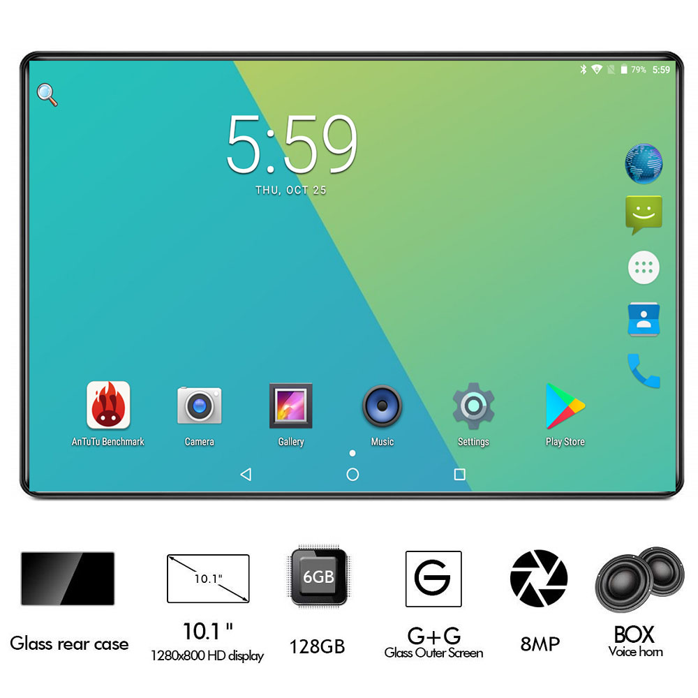 10inch Tablet Media-Pad Youtube Android 9.0 Dual-Tempered Octa-Core 4G LTE Glass 1280x800