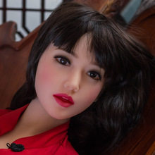 WMDOLL #53 TPE sex doll head for japanese silicone sex doll with wig ,oral sex toys