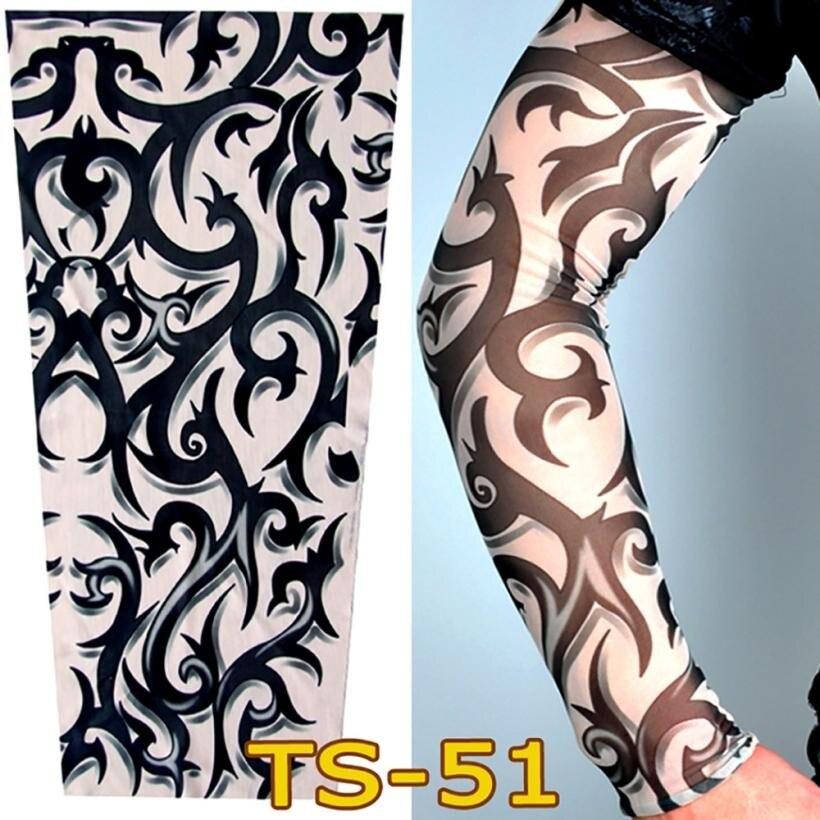 Us 113 27 Offnowy Opaska Na Ramię Opaska Nylon Elastyczne Fałszywy Tymczasowy Tatuaż Rękawy Wzory Ciała Arm Pończochy Tatuaż Dla Fajne Mężczyźni