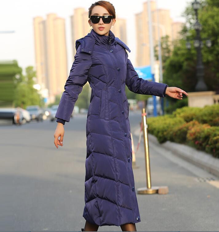 Oeaid Épaississement Long Bleu dark 2017 Manteau bleu Manteaux Veste Dames Slim Vers Red Bas Femmes Noir Mode D'hiver Le Survêtement rwzrqvBg