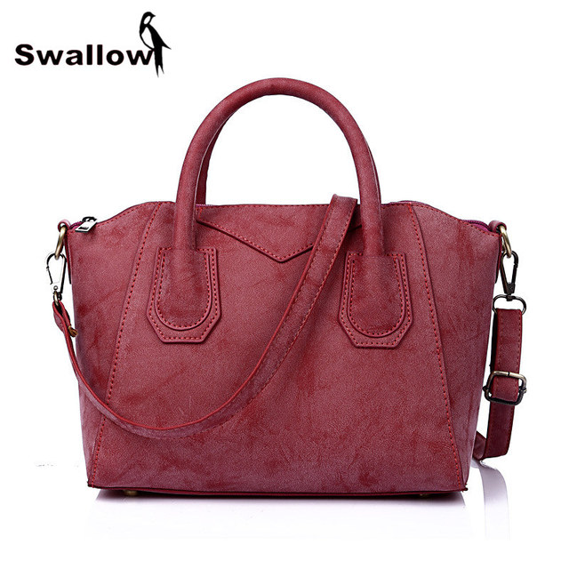 SWALLOW Scrubs Shell CrossbodBag For Women Famous Designer Brand Bags Women Leather Handbags Shoulder Bags For Female