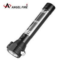 LED Solar Multi function Flashlight 9 in 1 Multi function Hammer Safety Lamp Flashlight Mobile Magnet Emergency Lamp Lifesaving