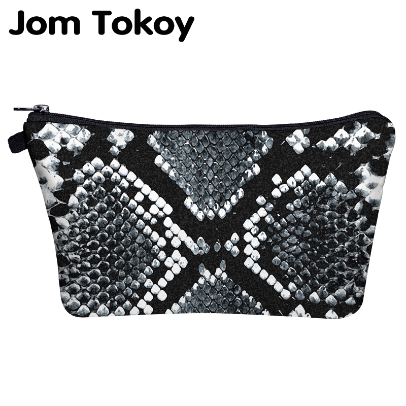 Jom Tokoy Cosmetic Bag Printing Serpentine Personalised Makeup Bags Organizer Bag Women Beauty Bag