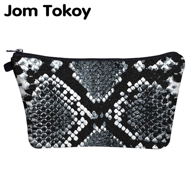 Jom Tokoy Cosmetic Bag Printing Serpentine Personalised Makeup Bags Organizer Bag Women Beauty Bag