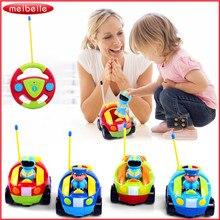 Control remoto playmobile po-piojos de dibujos animados cars con luz música ecléctica rc car toys for kids niños chicos cars en la radio Control