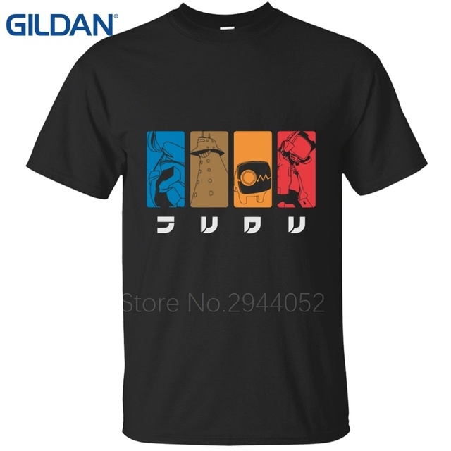 middle black tee new flcl lord canti fooly cooly anime cartoon
