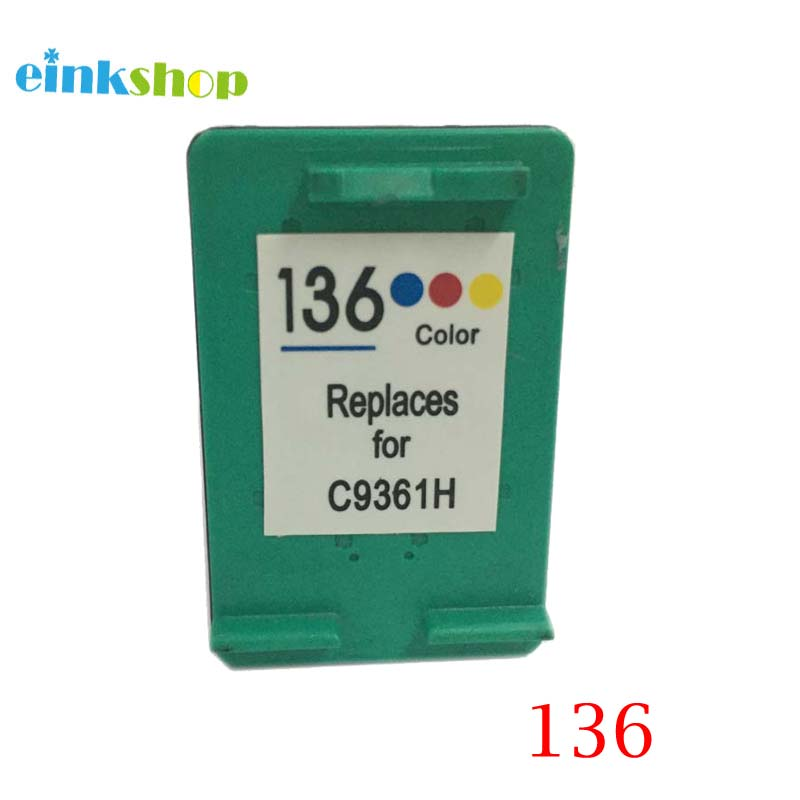 einkshop 136 Výměna inkoustové kazety pro hp 136 6213 Deskjet 5443 D4163 Photosmart 2573 C3183 D5163 PSC1513 Tiskárna