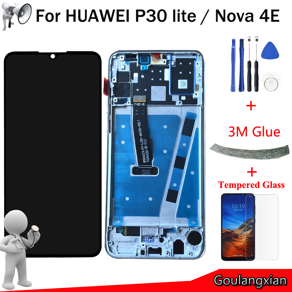 6 15 AAA Original LCD For Huawei P30 lite LCD Display Touch Screen Digitizer Assembly For