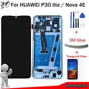 "Image 1 - 6.15 ""AAA orijinal LCD Huawei P30 lite LCD ekran dokunmatik ekran Digitizer meclisi için Huawei Nova 4E LCD ekran yerine"