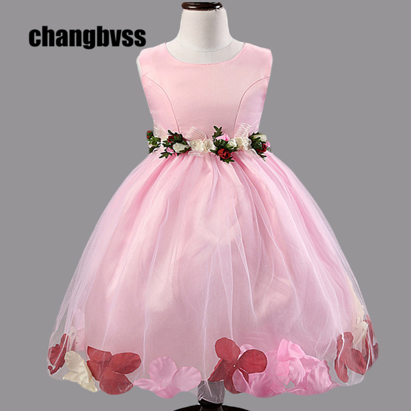 Girl Princess Dress Flower Girl Chiffon Dresses 2015 Cute Ball Gown Sleeveless Summer Girls Pageant Dresses for Weddings Party 2015 colorful acrylic nail glitter wheel glitter gold plated nail art jewelry women fingernail decoration supply wy165