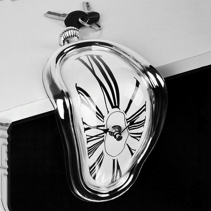 Modern Design Surrealist Salvador Dali Style Wall Clock  Novel Surreal Melting Distorted Wall Clock Amazing Home Decoration 6
