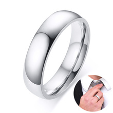 Classic Men's Stainless Steel Wedding Band with Domed Profile and Polished Finish Ring Comfort-Fit Adult Unisex Jewelry 5mm