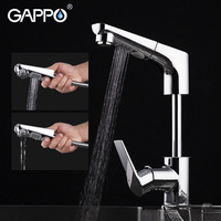 GAPPO pull out brass kitchen faucet water mixer tap Kitchen tap water mixer crane Chrome torneira cozinha