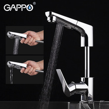 купить GAPPO pull out brass kitchen faucet water mixer tap Kitchen tap water mixer crane Chrome torneira cozinha дешево