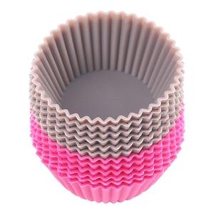 Image 2 - Mini moldes de silicona para cupcakes, herramientas de silicona para Tartas, magdalenas, 12 unids/lote