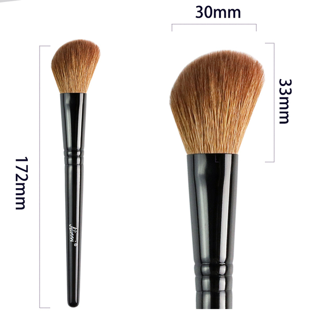 Ailinmi WG-SERIES Face Brushes - Fluffy-Cheek 14 Tapered-Face 21 Angled-Contour 22 Tapered-Highlight 23 - Makeup Blending Tools 5