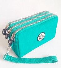 2016  J- Bhagavad-pink women's fashion brand new original kipled women clutch purse waterproof nylon handbags women's card bag