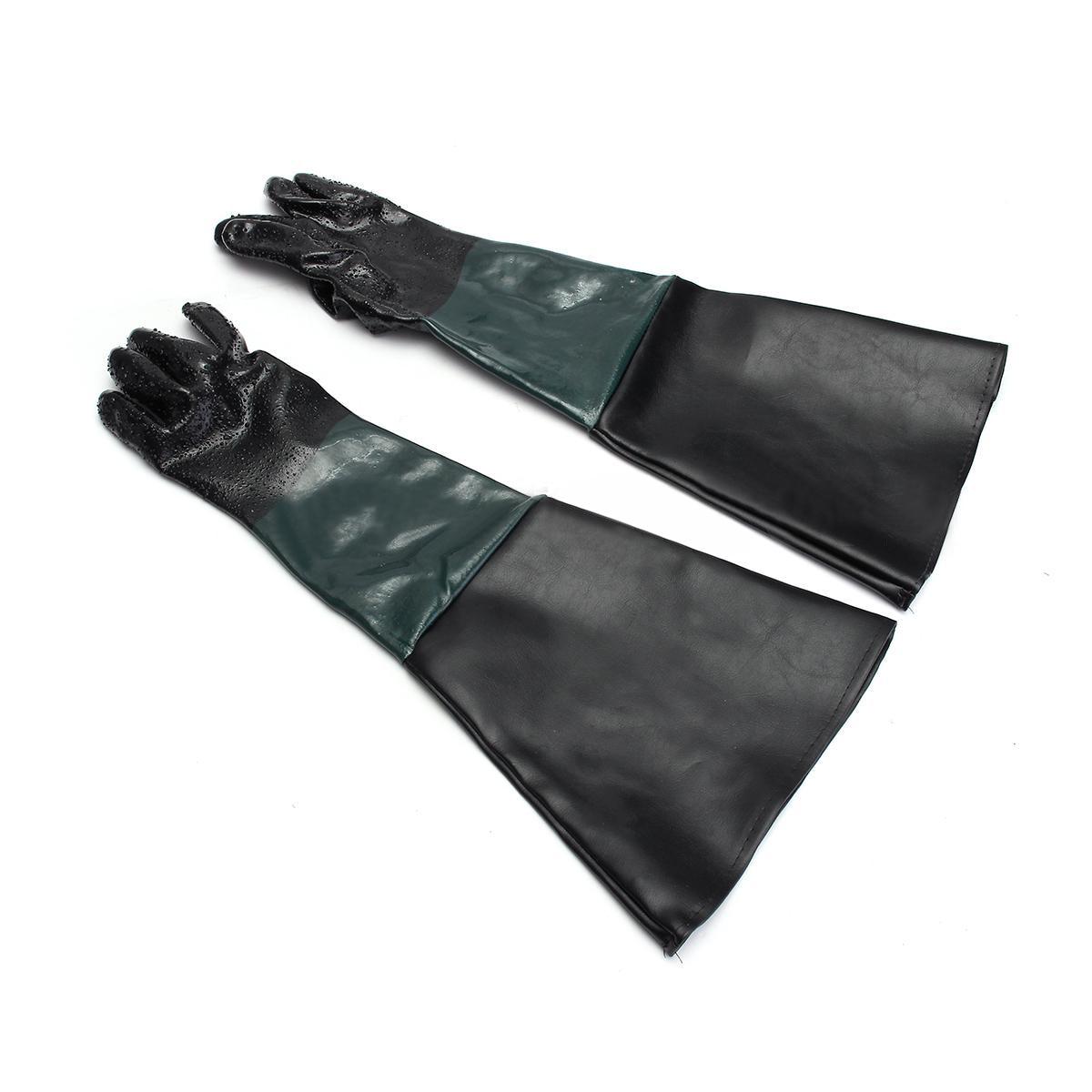 1 para Heavy Duty Handschuhe Mayitr Weichen Bequemen Sandstrahlen Maschine Handschuhe Für Sandstrahler Sand Explosion Schrank 60 cm