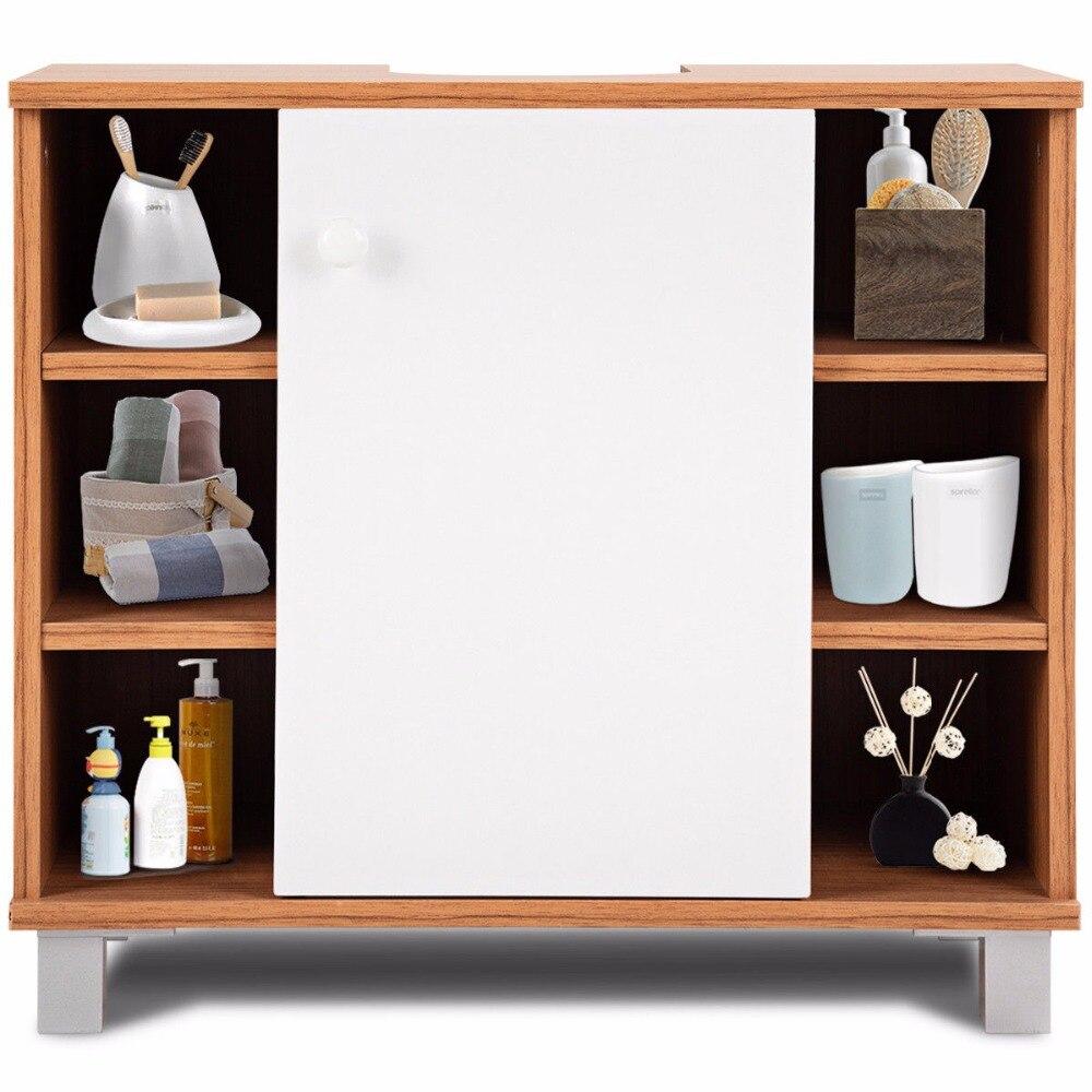 Giantex Under Sink Cabinet Bathroom Spacesaver Storage Cabinet 6 Cube Vanity Organizer Modern Bathroom Furniture BA7403 5