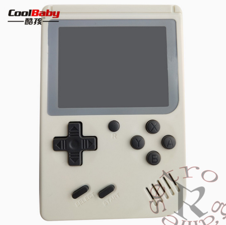 White coolbaby RS-6A Portable Mini Handheld Game Console gift 8Bit 3.0 Inch Color LCD Kids Color Game Player Built-in 168 games