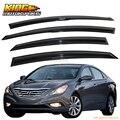 Para 11-14 Hyundai Sonata Fumado JDM Aero Vento Defletores Vara Na Janela Viseiras Interno DOS EUA Frete Grátis