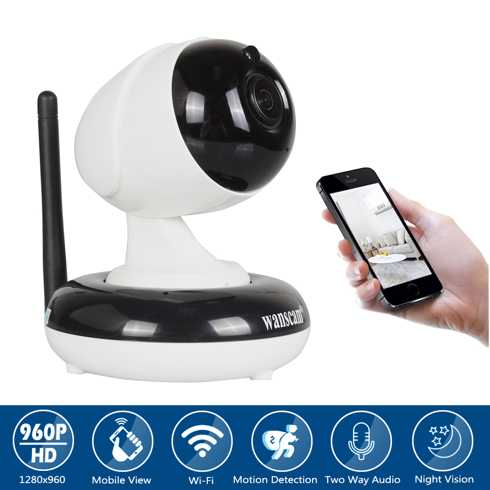 960P HD Home WiFi Wireless Security Surveillance Camera with Motion Detection Pan/Tilt 2 Way Audio and Night Vision Baby Monitor syarin baby monitor hd 720p 1 0mp ip camera wireless wifi two way audio motion detection alarm wifi camera tf card slot pan tilt