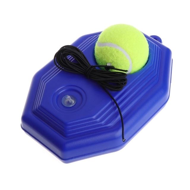 Теннис шаровой тренажер инструмент ракетки практика восьмиугольник плинтус эластичный веревка спарринг