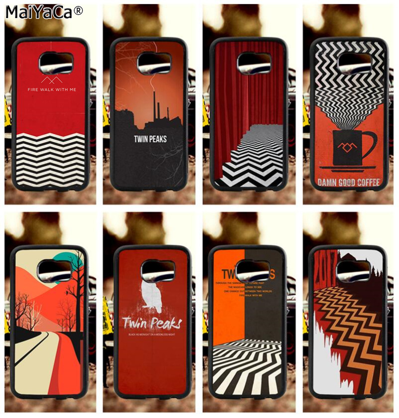 TV series twin peaks silicone soft cases for samsung s3 s4 s5 s6 s6edge plus s7 s7edge s8 s8plus s9 s9plus note5 note8 case
