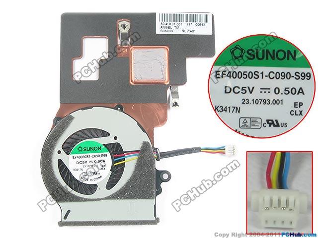 SUNON EF40050S1-C090-S99 Heatsink fan DC5V 0.50A 4-wire free shipping for sunon eg50040v1 c06c s9a dc 5v 2 00w 8 wire 8 pin server laptop fan