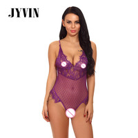 JYVIN Sexy Lingerie Women One Piece Lace Babydoll Sleepwear Sexy Hot Erotic Costumes Porn Latex Lenceria Sexo