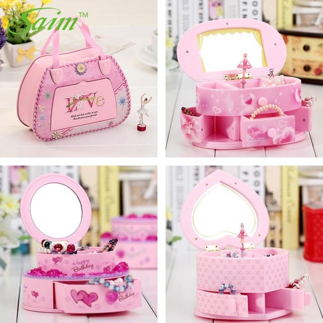 Saim Rotating Music Box Decoration Dancing Ballet Girl Music Jewelry Box Cute Musical Box Children Girl