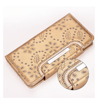 Magnetic Wallet Leather Detachable Removable Case For IPhone 5 6 Plus With Strap Water Resistant Card