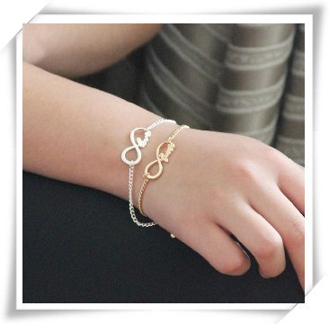 2013 New fashion Jewelry Infinity Blessing wish bracelet  for women girl ladie's  wholesale B827