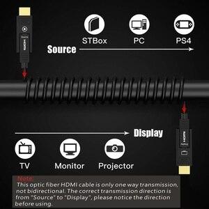 Image 2 - Detachable HDMI2.0 Fiber Optical Cable, Micro HDMI Type D+Type A, 18Gbps 4K 60Hz HDCP2.2 3D HDMI 10m 15M 20m 30m 40m 50m 100m