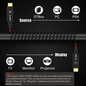 Image 2 - Odpinany HDMI2.0 kabel światłowodowy, Micro HDMI typ D + typ A, 18 gb/s 4K 60Hz HDCP2.2 3D HDMI 10m 15M 20m 30m 40m 50m 100m