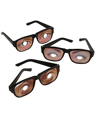 1Set Funny Eyes Disguise Glasses Gag Toys Practical Jokes Toys Gift Party props