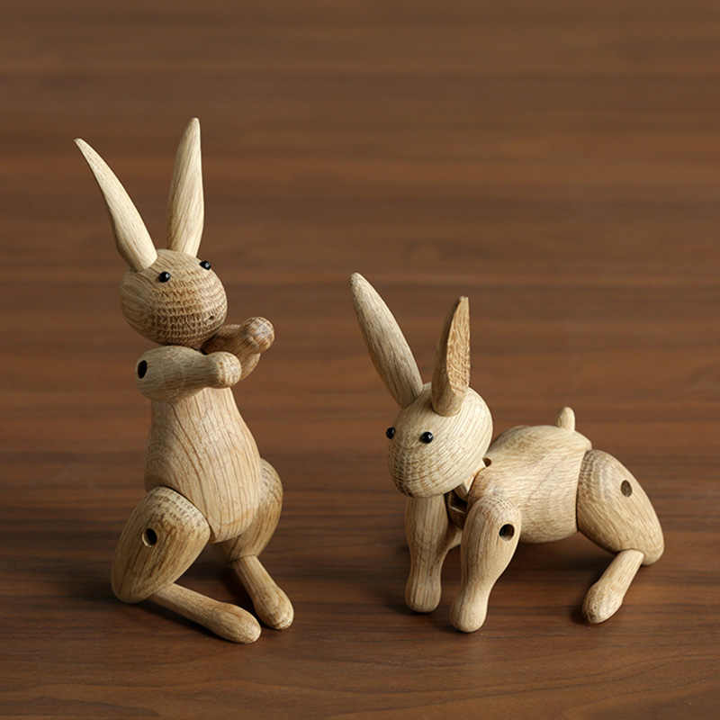 111The Danish  Nordic wood Home Furnishing ornaments wholesale custom Soft decorations sample room wooden decor