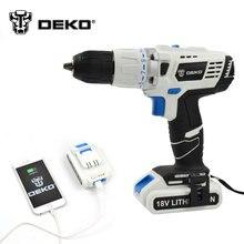DEKO 18 В DC Новый Дизайн Мобильных Питания Литиевая Батарея Молоток Аккумуляторные Дрели Электроинструменты Влияние Электрического Сверла