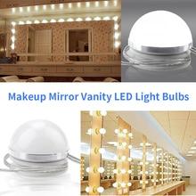 все цены на Hollywood Lights Vanity Mirror Lighting 6 10pcs Led Mirror Bulbs Decoration Makeup Dresser With Touch Dimmer 85-265V Wall Lamp онлайн