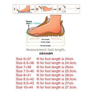 Image 5 - DEKABR Brand Fashion Soft Split Leather Breathable Mens Shoes Slip on Mocassins Men Loafers Anti skid Driving Casual Shoes Men