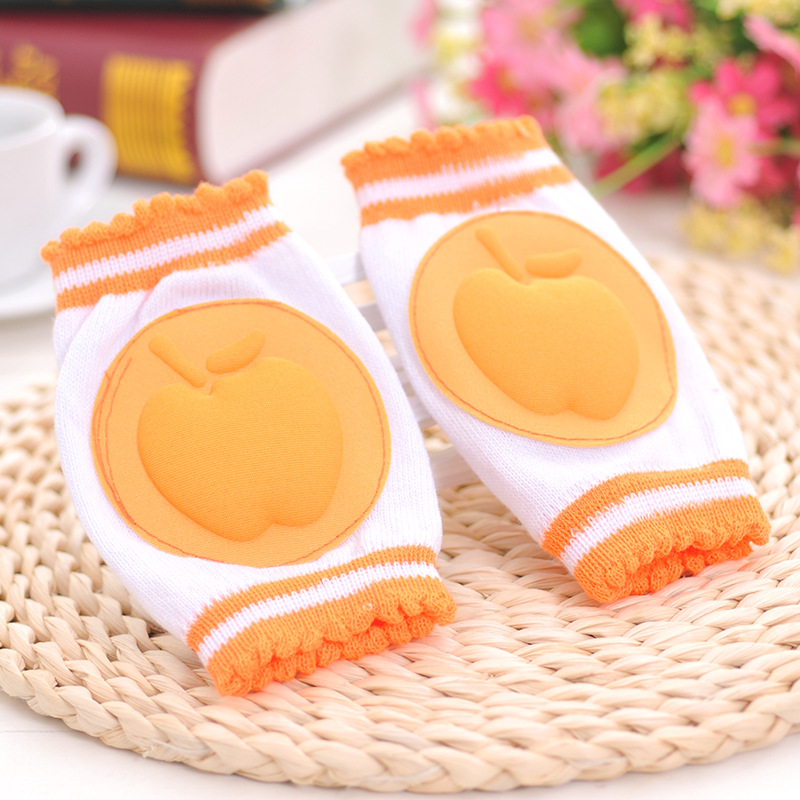 Safety Cotton Baby Elbow Knee Pads S Toddler Fruit Pattern Knee Guard Warmer Crawling Protection Legging Breathable 6 Colors