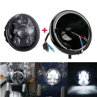 5.75 inch housing bucket 5 3/4'' Motorcycle Projector Daymaker LED Lamp headlight for Harley Davidson Sportster Black