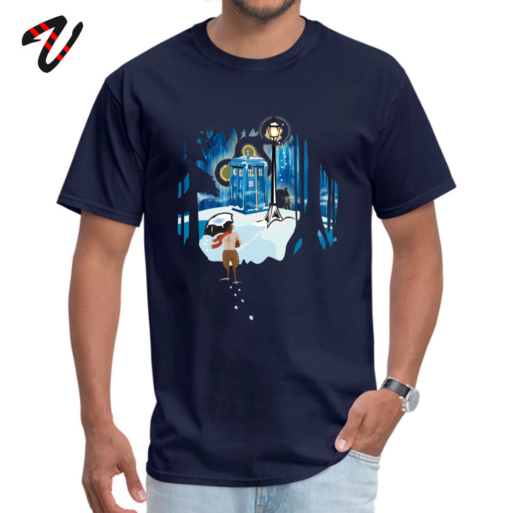 The Birches (in Blue) T-shirts Fitted Short Sleeve Funny 100% Cotton Crewneck Men Tees Gift Top T-shirts Summer The Birches (in Blue) -22612 navy