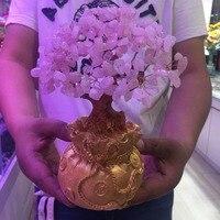 Crystal Rose Quartz Gemstone Bonsai Lucky Tree