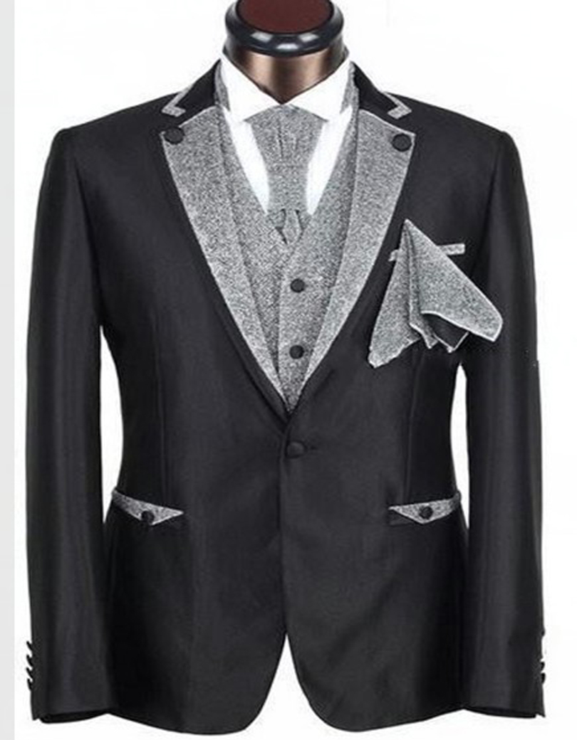 Online Shop Custom Made Man Suit Black Red Groom Tuxedos Groomsmen ...